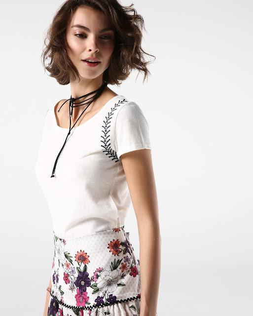Moda Blusa Bordado