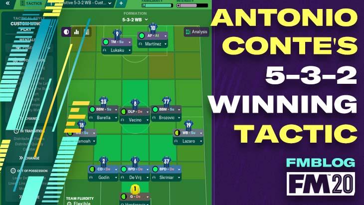 FM20 - Antonio Conte's 5-3-2 Winning Tactic