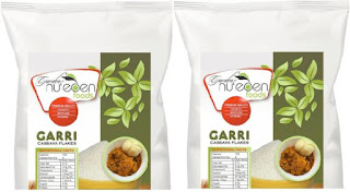 Nu'eden Garri Ijebu - Organic Cassava Flakes - Crunchy Sharp-tasting Granular Flour for Drinking and Making Eba