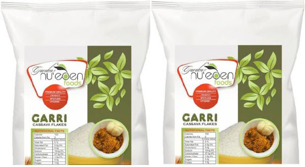 Nu'eden Garri Ijebu: Organic Cassava Gari Flakes - Crunchy Sharp-tasting Granular Flour for Drinking and Making Eba - Naija Grocery