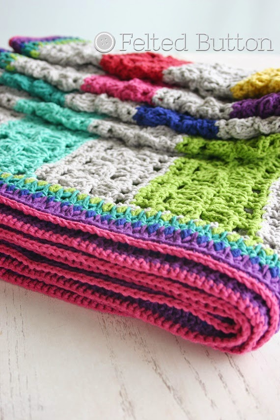 Under the Awning Blanket crochet pattern by Susan Carlson of Felted Button