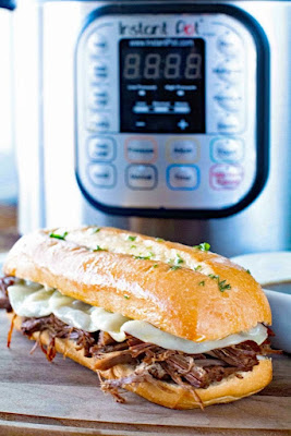 {INSTANT POT} PRESSURE COOKER FRENCH DIP SANDWICH