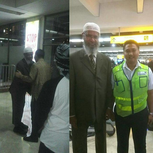 Foto dr. Zakir Naik datang ke Indonesia