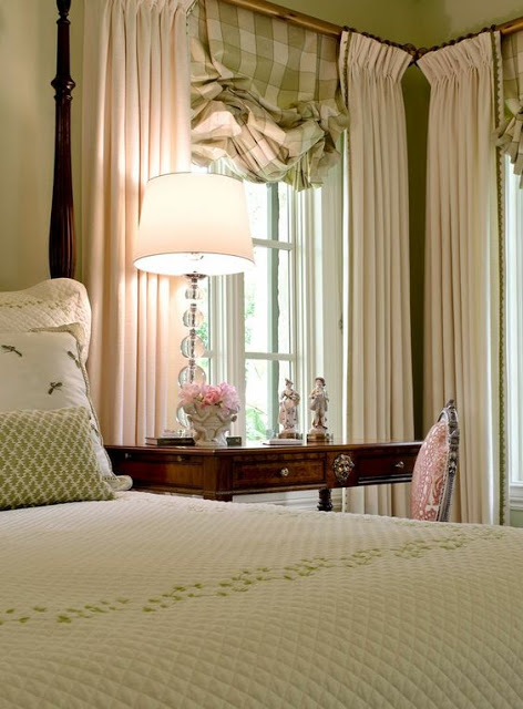 Country Bedroom Window Treatments