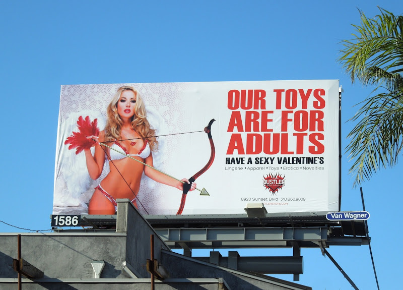 Hustler Our Toys are for Adults Valentine's Day billboard