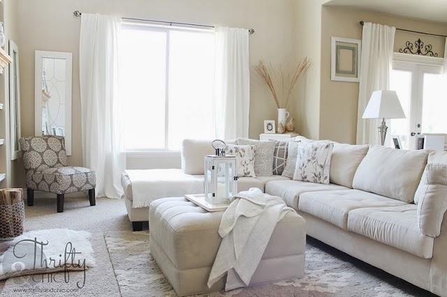 中性/白色客厅设计