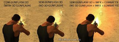 gta sa mod cleo remove 3d gunflash muzzle efeito tiro