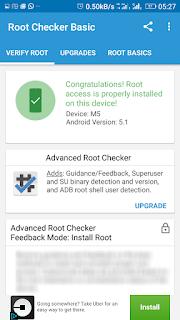 root checker Gionee m5