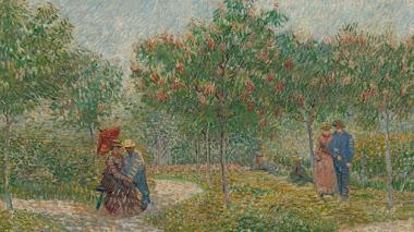 Van Gogh y la primavera. El jardín con los amantes en un día de mayo