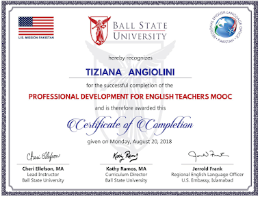 Professional Development for English  Language Teachers  Mooc   May-August 2018
