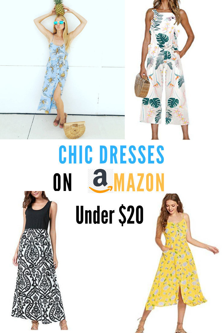 Chic fashion finds and stylish sun dresses for under $25 on Amazon Prime #fashion #momstyle #affordablefashion #summerstyle #bargain