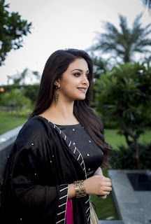 Keerthy Suresh in Black with Cute Smile at the Press Meet of Pandem Kodi 2 1
