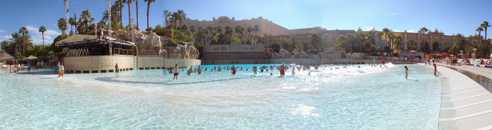 panoramic picture of the pool