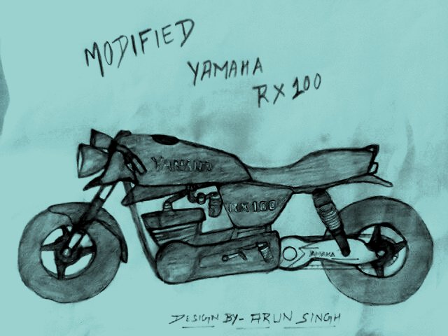 top speed ever modified yamaha rx 100 sketch cheetah bike sketch