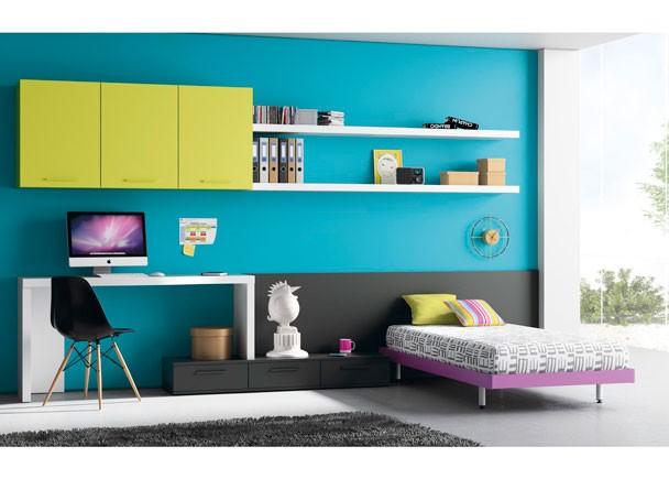 Dormitorios juveniles con cabecero camas individuales - Cama individual juvenil ...