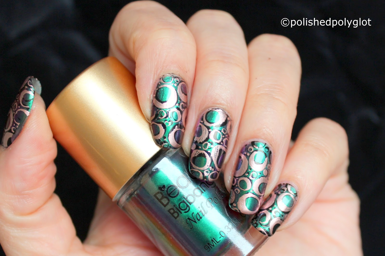 Nail Art Nail Design With Round Shapes 26gnai Challenge