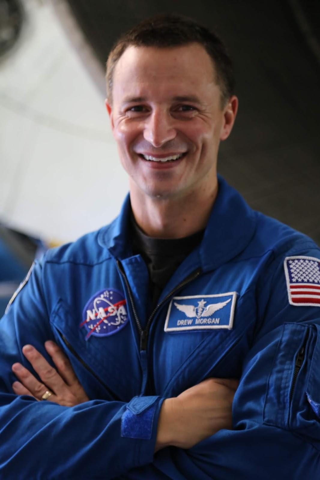A man in a NASA flight suit