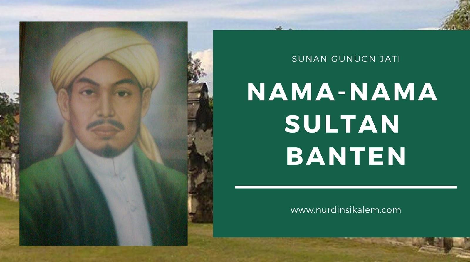 Mengenal nama-nama sultan banten