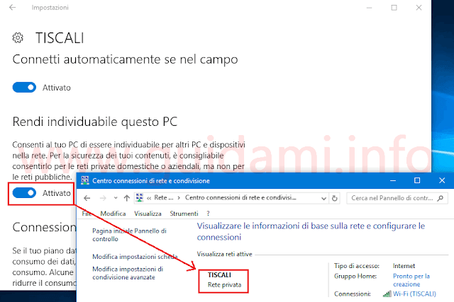 Windows 10 Anniversary Update passare a Rete privata
