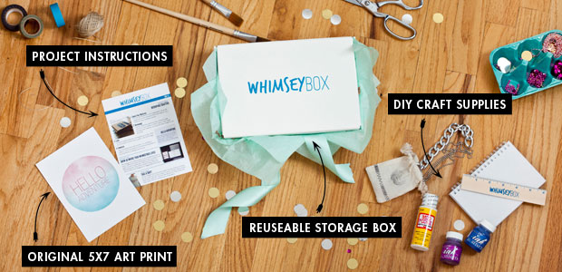WhimseyBox craft subscription