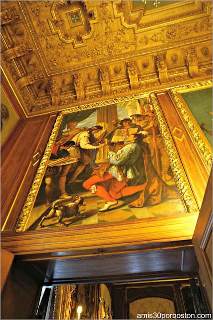 Pinturas del Salón Comedor de la Mansión The Elms en Newport
