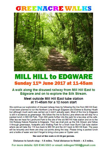 Greenacre Walks - Mill Hill to Edgeware