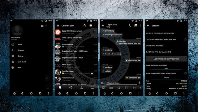 download BBM Mod Black Theme Versi Clone 2.13.0.22 Apk