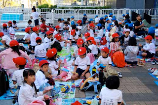 School Children Lunch Osaka Japan