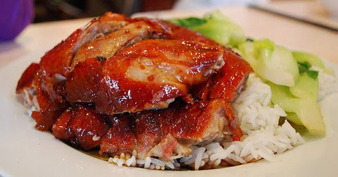 Roast Duck with Sweet Soy Sauce and Rice