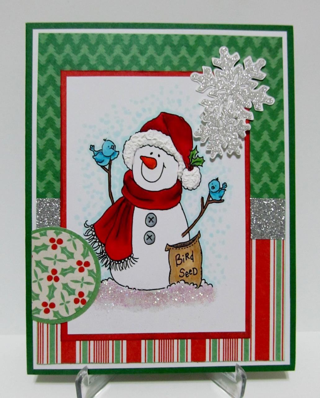 Savvy Handmade Cards: Cute Snowman Card