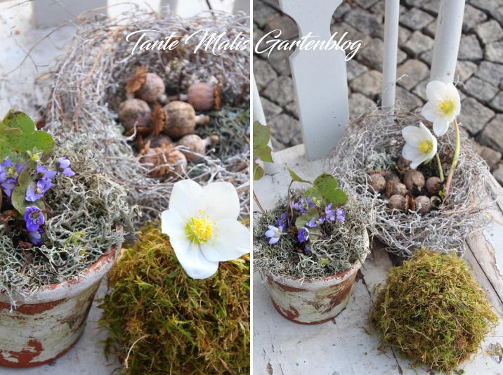Frühlingsdekoration Garten