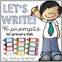 96 writing prompts for primary students- perfect for the writing center!