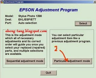 Cara reset epson stylus photo 1390 blink