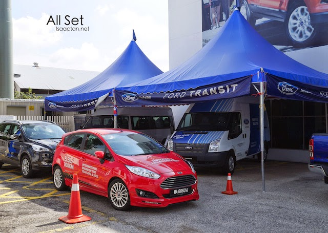 The new Ford Fiesta 1.0L all set to be driven and pushed to its limit