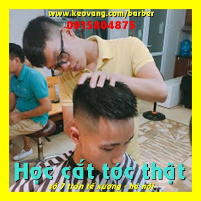 Học cắt tóc thật barber: tìm chỗ nào dạy thực tế, bài bản, chi tiết, cam kết ra nghề đi làm kiếm tiền