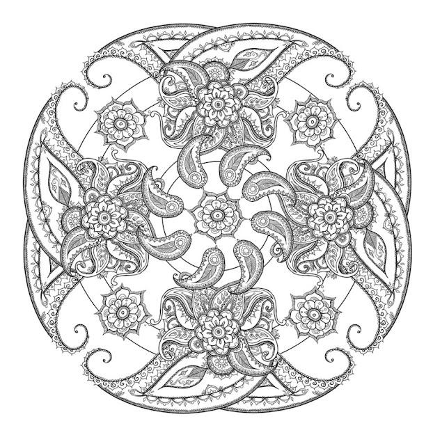Paisley Coloring Pages  Paisley Coloring Page Printable  Clipartandcrafts Picture