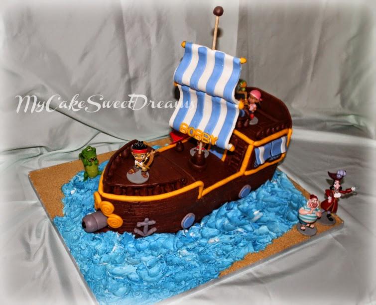 Jake And The Neverland Pirates Ship Birthday Cake