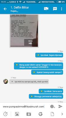 Testimoni Pembeli Pompa di www.pompaairmodifikasimurah.com