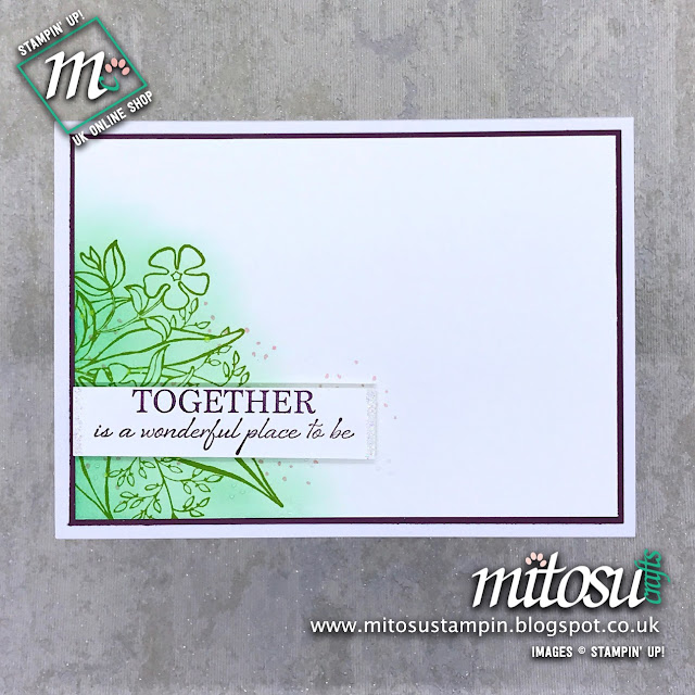 Wonderful Romance Stampin' Up! Card Idea. Order Cardmaking Products from Mitosu Crafts UK Online Shop
