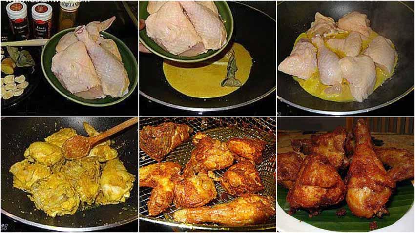 Resep Ayam Goreng Bumbu Kuning.