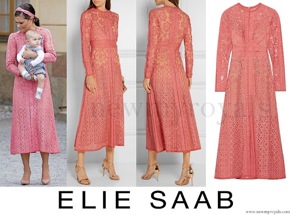 Crown Princess Victoria wore ELIE SAAB Cotton-blend Lace Dress