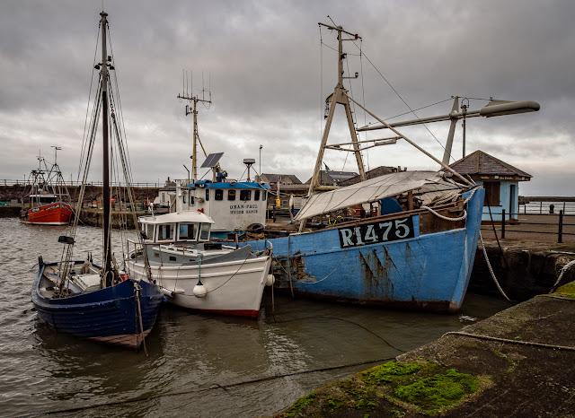 Photo of boats in Maryport Harbour on Boxing Day