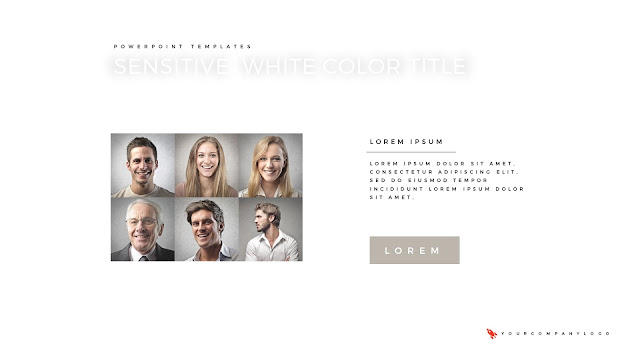 Our Team of Premium PowerPoint Template with Whit Title