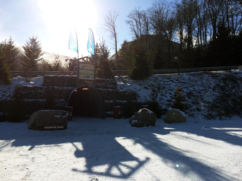 Camelback Mountain Resort, snowtubing entrance