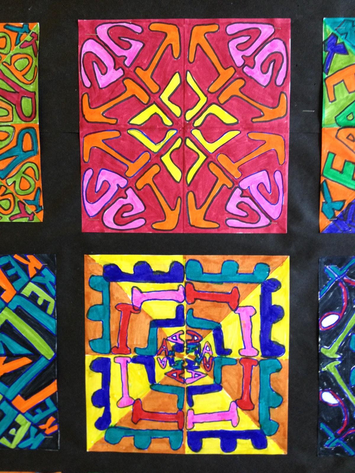 Time For Art Radial Symmetry Name Designs