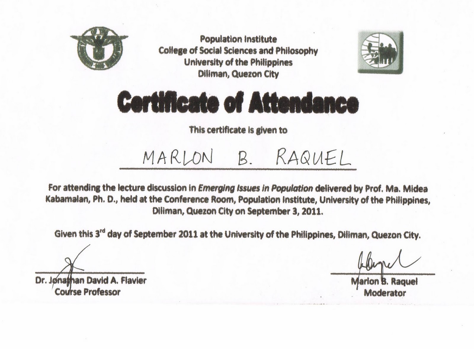 certificate in creative writing up diliman