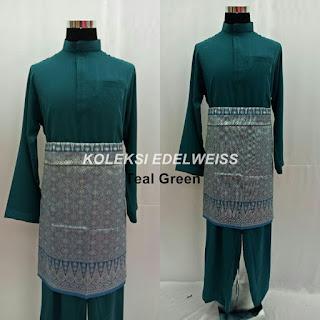 Baju Melayu Cekak Musang  Teal Green