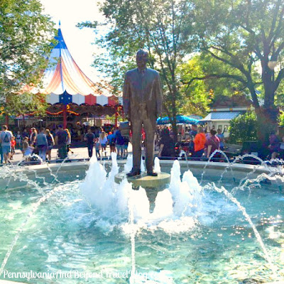 Milton S. Hershey Statue, Water Fountain and Historical Marker
