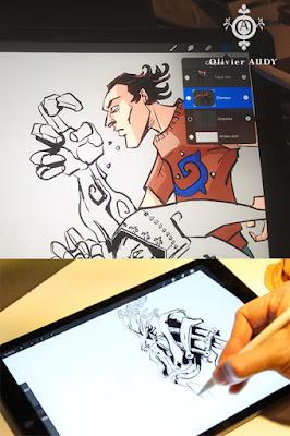 Procreate est un excellent logiciel de dessin sur IOS.