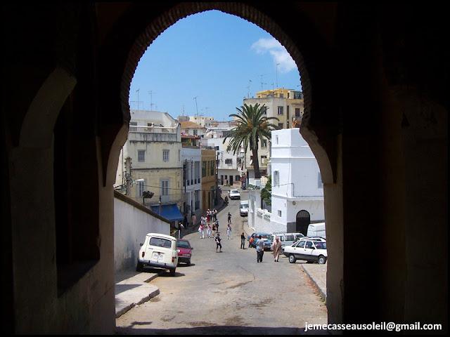 Entrée de la porte de la casbah de Tanger
